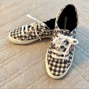 🆕🦋 Superga unisex blue/white checkered sneakers